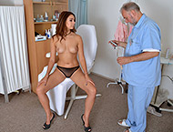 Ani Blackfox, 24 years girl gyno exam. Inspection ...