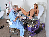 Chrissy, 23 years girl gyno exam. Examination with...