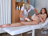 Stacy Cruz, 19 years girl gyno exam. Examination w...