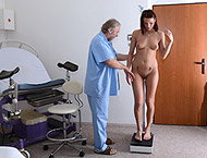 Victoria, 19 years girl gyno exam. Inspection with...