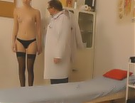 Young frail steaming-hot female spy cam medical vi...