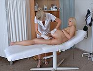 Julia, 23 years. Checkup with breasts and physical...