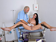Viola, 36 years MILF gyno exam. Inspection with mo...