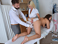 Laura, 22 years. Dr Claudia with male assistant ma...