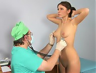Blushing babe auscultated and neuro tested
