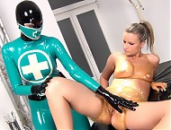 RUBBER CLINIC PUSSY TREATMENT AND PISSING PT 3