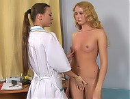 Excited doctor wants to have some lesbian fun