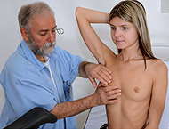 Gina Gerson, 20 years girl gyno exam. Inspection w...