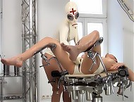 NAUGHTY RUBBER DOCTOR AND PATIENT IN RUBBER CLINIC...