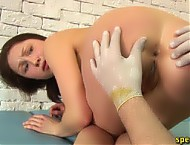 Babe frightened into full medical submission